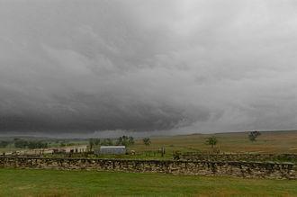 Tallgrass Prairie National Preserve - Stormy sky Tallgrass Prairie National Preserve, Kansas