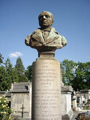 Adamantios Korais - Cenotaph of Korais; Montparnasse Cemetery.