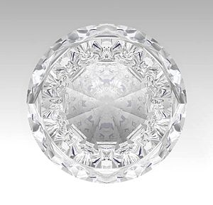 Mental Ray - An image  of diamond rendered using Mental Ray in CATIA V5R19 Photo Studio.
