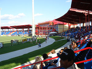 United States Australian Football League - CRBR Park Stadium is the largest purpose built cricket/Australian football ground in the United States. It has a capacity of 20,000.