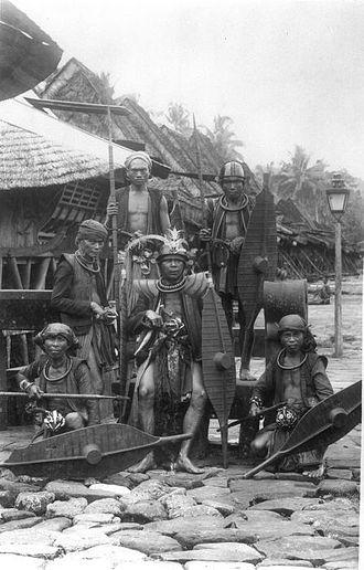 South Nias Regency - Group of warriors in South Nias. Photo by Christiaan Benjamin Nieuwenhuis