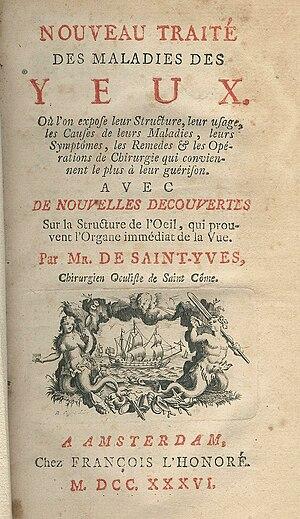Charles Saint-Yves - Charles de Saint-Yves, Traité des maladies des yeux, 2nd edition 1736