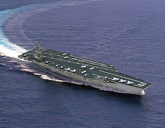 Gerald R. Ford-class aircraft carrier - Artist's concept of CVN-78.