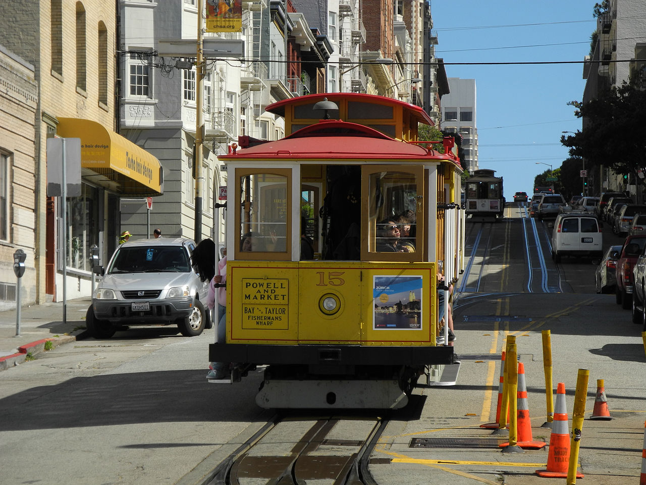 File cable car 15 on powell wikimedia commons for British motor cars san francisco