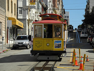 Steep grade railway - The San Francisco cable car system