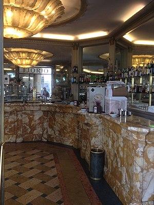 Caffè Fiorio - The coffee bar at cafe Fiorio in Turin Italy.