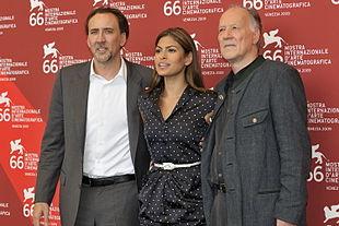 Nicolas Cage, Eva Mendes e Werner Herzog alla première del film alla 66ª Mostra internazionale d'arte cinematografica di Venezia