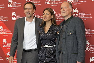Bad Lieutenant: Port of Call New Orleans - Nicolas Cage, Eva Mendes and Werner Herzog at the Venice Film Festival for the premiere of the film.