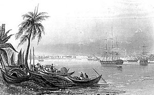 Port of Kolkata - View of the Calcutta port in 1852