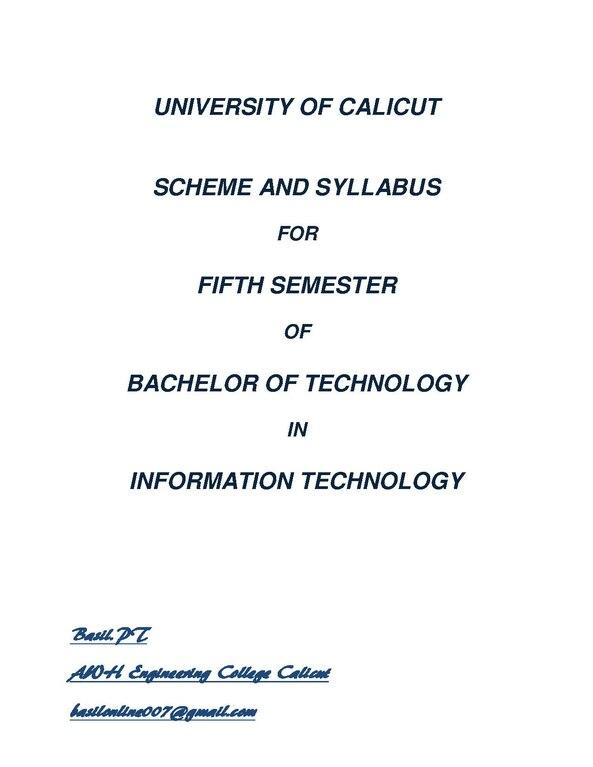 File:Calicut University S5 IT Syllabus(2007 Admission) pdf