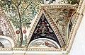 Camillo mantovano, volta della sala a fogliami di palazzo grimani, 1560-65 ca., lunette con grottesche e rebus allusivi al processo per eresia di giovanni grimani 20.jpg