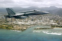 A CF-18A fighter jet.