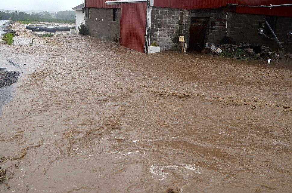 Canandaigua flood July 23, 2017 barn flooded 4