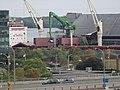 Canfornav freighter Blacky unloading raw sugar at Redpath sugar refinery, 2015 09 09 (4).JPG