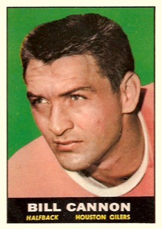 Billy Cannon - Cannon on a 1961 trading card