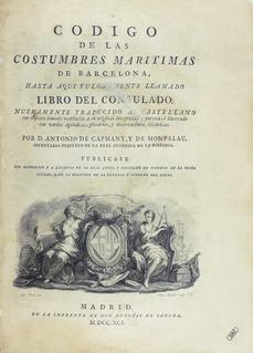 Antonio de Capmany y Montpalau Spanish historian