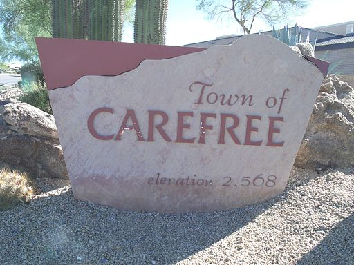 Carefree- Carefree Town Marker