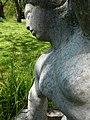Carl Gutknecht (1878–1970) Bildhauer. Skulptur, Kniende, von 1945, Universitätsspital-Garten, Basel (2).jpg