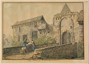 Karl Philipp Fohr - Image: Carl Philipp Fohr (German Ruin of the Tiefburg at Handschuhsheim Google Art Project