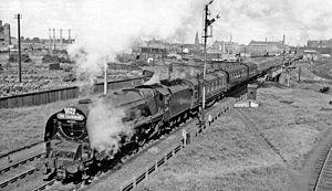 Carlisle railway station - The Up 'Caledonian' leaving Carlisle in 1960