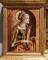 Carlo crivelli, madonna della rondine, post 1490, da s. francesco a matelica, predella 01 caterina d'alessandria.jpg