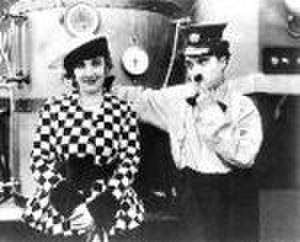 The Fireman (1916 film) - scene from film with Edna Purviance