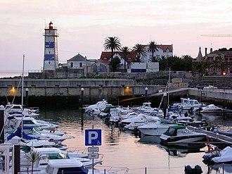 Cascais Marina - View of Santa Marta Lighthouse from the marina.