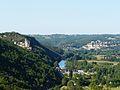 Castelnaud et Beynac depuis parc Lacoste.JPG