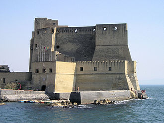 20th G7 summit - Castel dell'Ovo in the waters of the Bay of Naples.
