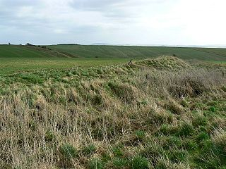 Casterley Camp site of an Iron Age univallate hillfort located in Wiltshire, England