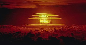British hydrogen bomb programme - The Castle Bravo test on 1 March 1954 was America's first test of a hydrogen bomb using solid thermonuclear fuel. Its yield was more than twice what had been expected, and was the largest ever American detonation.