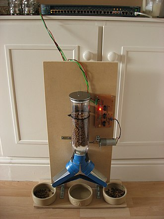 Home automation - Internet enabled cat feeder