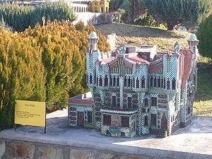 "Casa Vicens - ""Catalunya en Miniatura"" model of Casa Vicens"