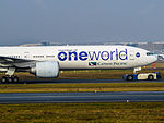 "Cathay Pacific Boeing 777 ""One World"" (15712396274).jpg"