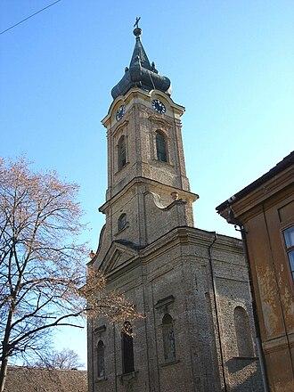 Ruma - Image: Catholic church in Ruma, Serbia