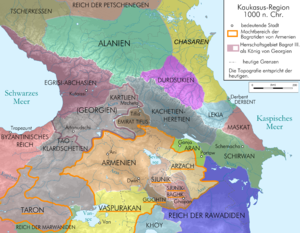 Kingdom of Artsakh - Syunik as vassal of the Armenian kingdom around 1000