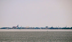 Cavite skyline as seen across Manila Bay