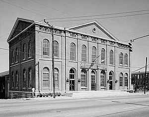 Central of Georgia Depot and Trainshed - Central of Georgia Railway, Passenger Station in 1976