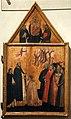 Cerchia di andrea orcagna, sportello di tabernacolo con consegna degli stendardi, 1360, 02.jpg