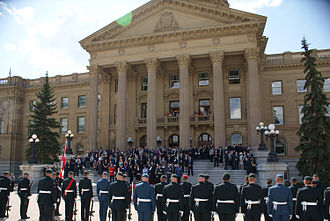 Lieutenant Governor of Alberta - The swearing-in ceremony of Donald Ethell as Lieutenant Governor of Alberta, 11 May 2010