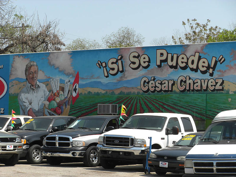 File cesar chavez mural east wikimedia commons for Cesar chavez mural