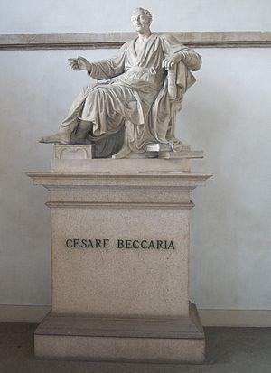 Cesare Beccaria - Statue of Beccaria in Pinacoteca Brera, Milan