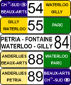 Charleroi Pre-metro destination indicators 2009 (in service).png