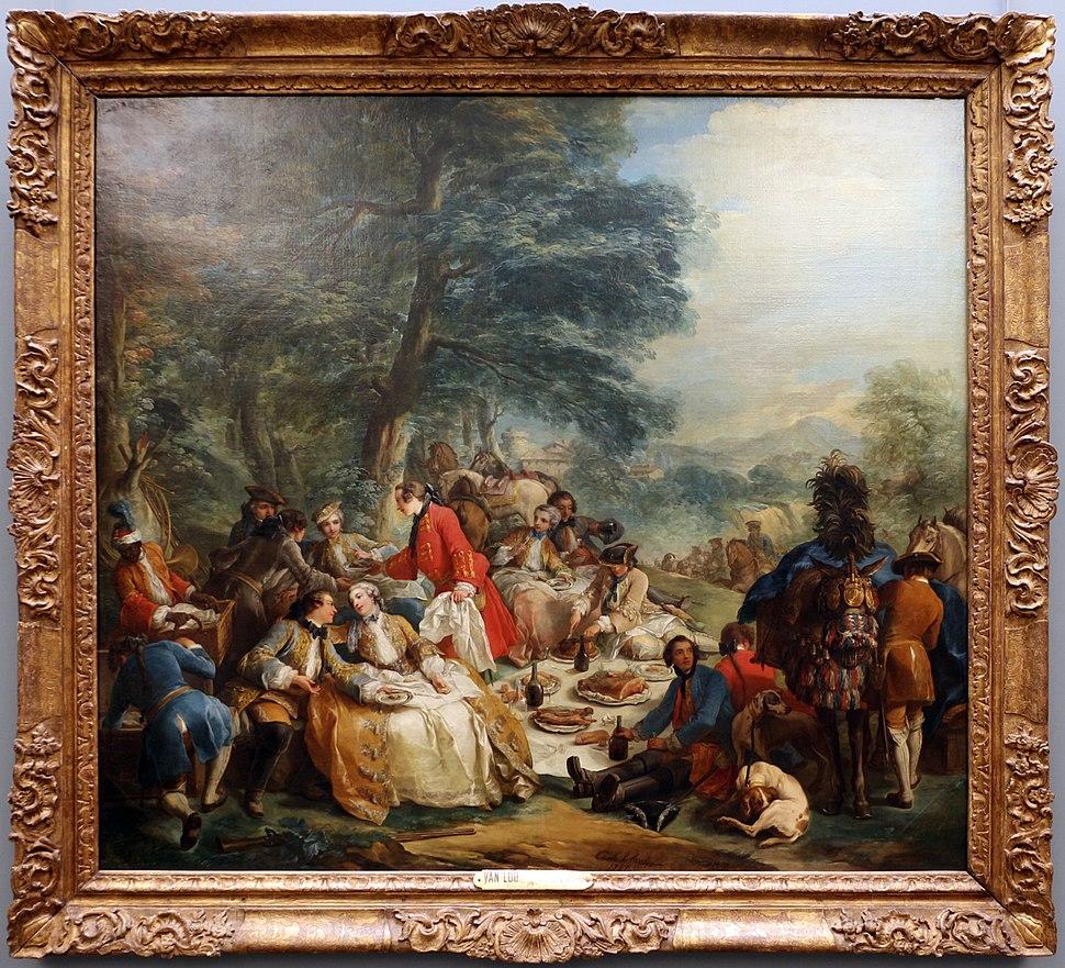 Charles André van Loo, fermata durante la caccia, 1737, 01
