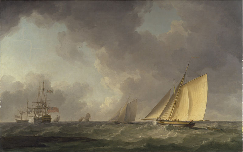 File:Charles Brooking - Cutter Close Hauled in a Fresh Breeze, with Other Shipping - Google Art Project.jpg