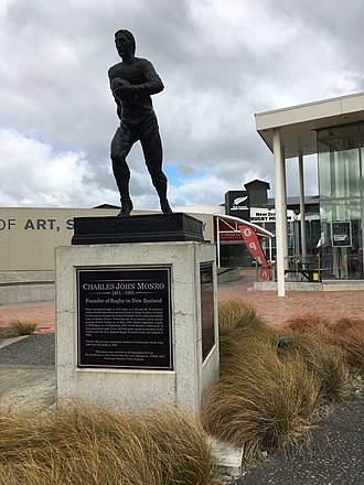 New Zealand Rugby Museum - Charles Monro memorial