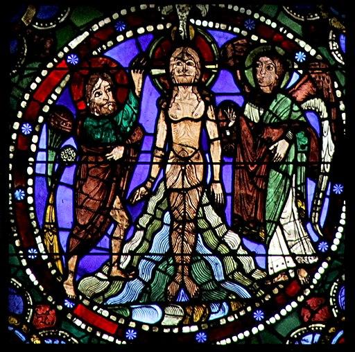 Chartres 50 - 7b - Baptême du Christ