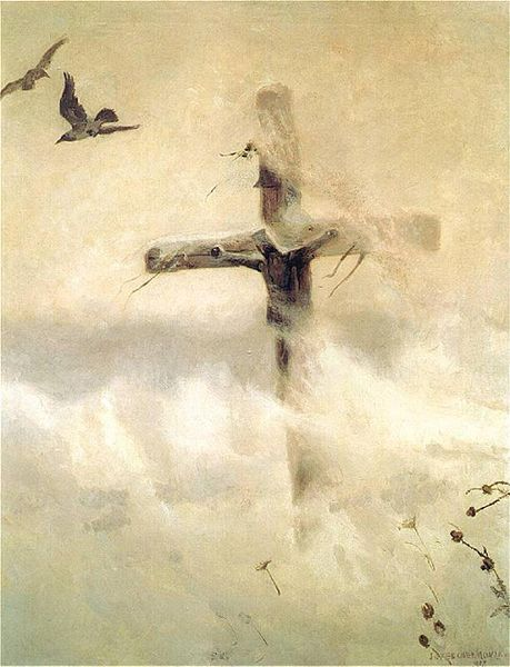 File:Chełmoński Cross in a blizzard.jpg