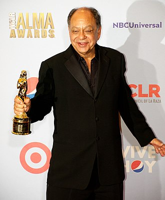 13th ALMA Awards - Cheech Marin holding his ALMA Career Achievement award