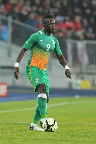 Cheick Tioté - Tioté playing for the Ivory Coast in 2012